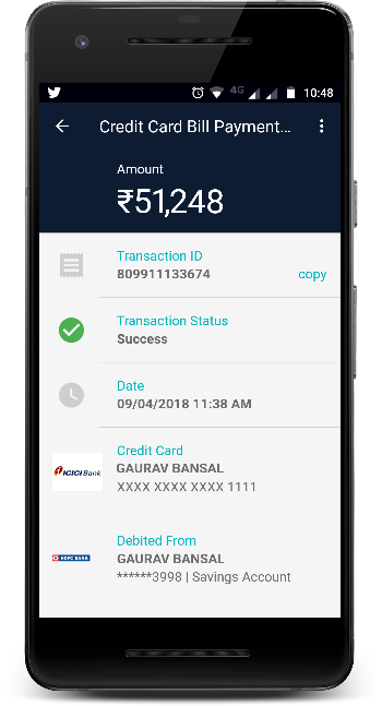 how to make icici bank credit card payment
